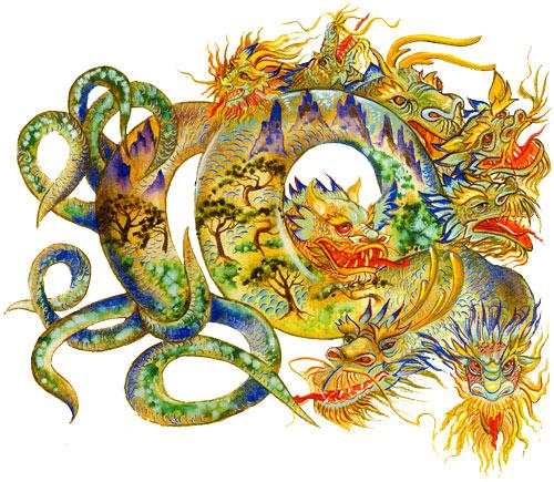 картинки японские драконы