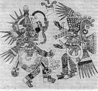 Танец Кецалькоатля и Тескатлипоки